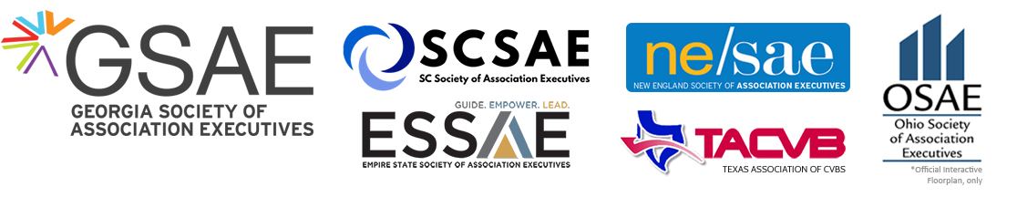 The Official Interactive Floorplan and Event App of the GSAE, ESSAE, OSAE, SCSAE, TACVB, and NESAE
